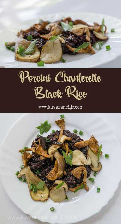 porcini chanterelle black rice