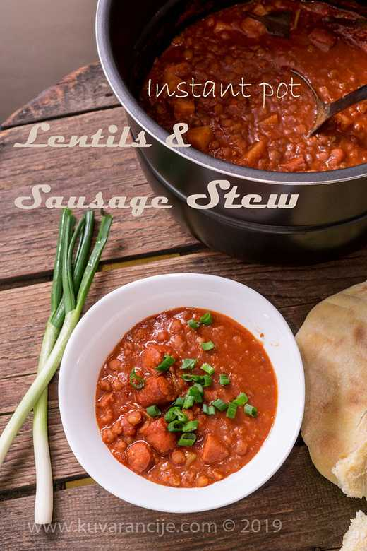 Lentils and Sausage stew