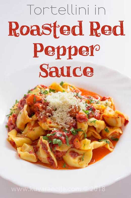 Tortellini in Roasted Red Pepper Sauce