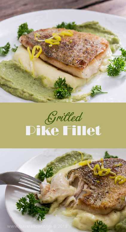 grilled pike fillet
