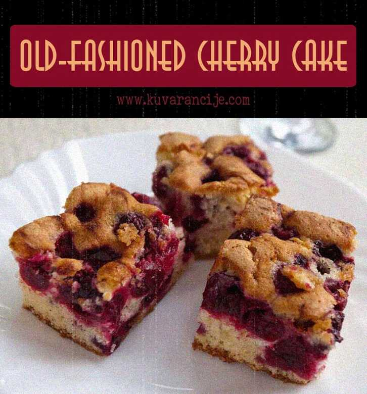 Old fashioned Cherry Cake 2