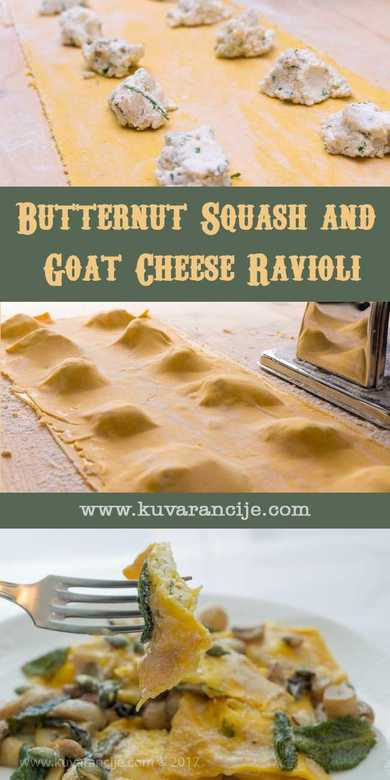Butternut Squash and Goat Cheese Ravioli
