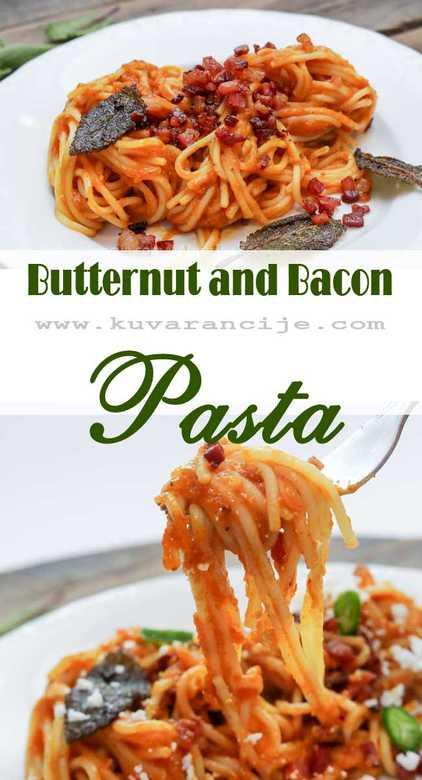 Butternut and bacon pasta 2